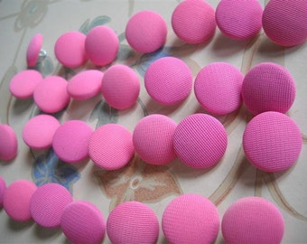 20 covered buttons- pink- L- 15mm