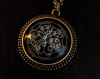 Doctor Who Inspired Gallifreyan Necklace