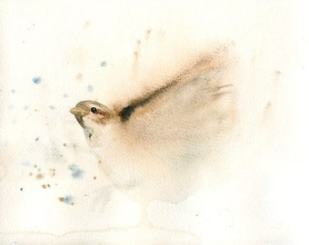 SPARROW - Art Print 8x10inch-Poster-Archival print-Animal print-wall decor-home decor-bird art