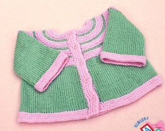 Baby Jacket Pattern, Fingering Weight, PDF download