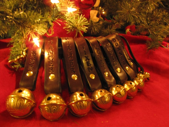 Santa Reindeer calling bells for Christmas Jingle bells Heirloom set ...