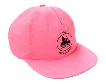 Classic 80s Neon Peach Wellness Snapback Cap