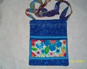 Flowered Zippered Pouch