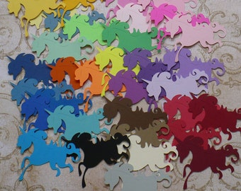 30 pc Unicorn / Unicorns  -  Die Cuts made from Rainbow Colors Cardstock 4 DIY Crafts Mobiles Murals etc.
