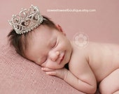 Newborn Crown Photo Prop Baby Crown Headband Princess Photo Prop Baby Headband Newborn Rhinestone Crown Baby Crown Cake Smash Photo Prop