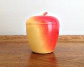 Milk Glass Apple Jelly Jar Hazel Atlas