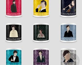 Sherlock Sherlock Holmes mug - Choose from 9 episodes (Made to order)