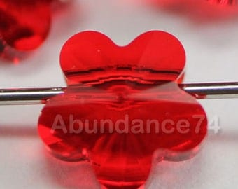 12 pcs 5744 Swarovski Elements FLOWER Crystal Beads LIGHT SIAM - Available in 6mm and 8mm