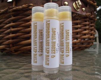 Local Honey and Lemongrass Natural Lip Balm