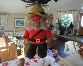Fufel Canadian Mountie 15 inches with raindeer fur whiskers Canadian made