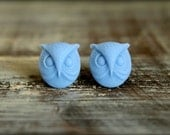 Owl Head Earring Studs, Multiple Colors Available