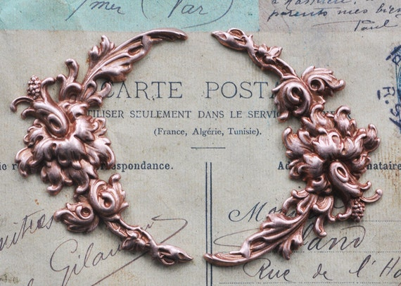 Two Neo Victorian intricate flourishes for scrapbooking, Rose Ox