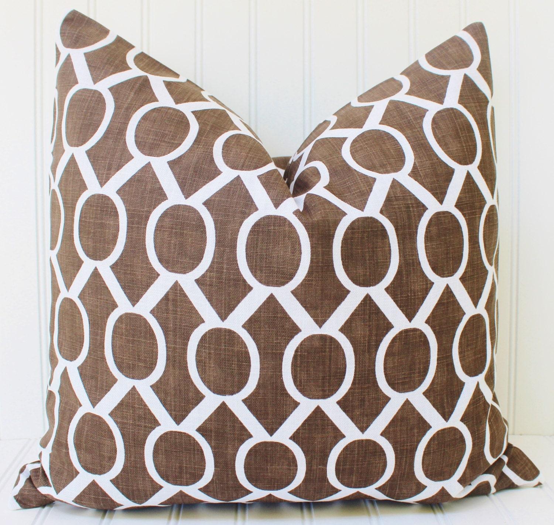 Brown Throw Pillows Etsy : Brown Pillows Decorative Pillow Cover Throw Pillow Pillows