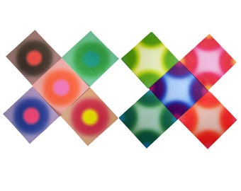 Blossom Airbrush Colored Origami Papers - 15cm(L), 40 Sheets