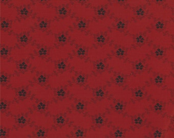 Floral Gatherings Fabric Collection by Primitive Gatherings  - Crimson 1103-25 - 1 Yard