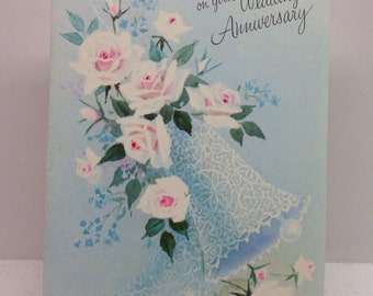 3 Vintage Greeting Cards Anniversary Cards English Cards Limited Unused.