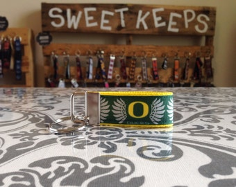 Oregon Ducks Inspired Keychain Fob