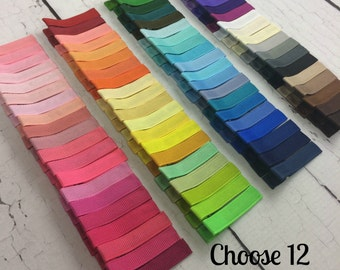 12 Simple Alligator Clips, You Choose From 77 Colors, Starter Set, Babies Toddler Girl Women