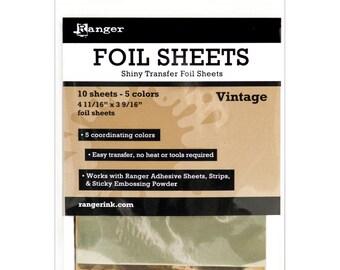 Ranger Shiny Transfer Foil Sheets 10/Pkg - VINTAGE