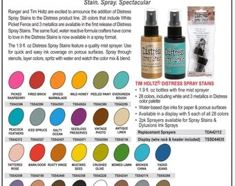 Ranger - Tim Holtz - Distress Spray Stains - You Choose