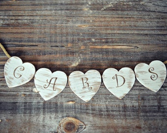 wedding-cards-sign-trunk sign-wedding card holder-distressed-rustic-shabby-cards sign-hearts-wedding trunks-vintage inspired-trunk-sign