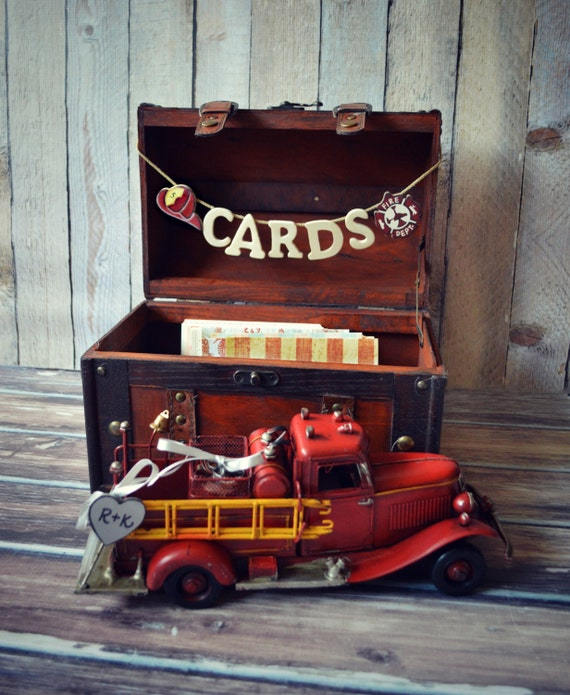 Firefighter Wedding Themes Ideas: Fire Fighter Wedding-wedding Trunk-wedding By MorganTheCreator