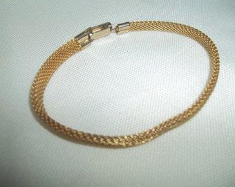 Vintage Sarah Coventry 6.5 Inch Unidentified Mesh Bracelet