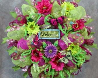 Popular items for everyday wreath on Etsy