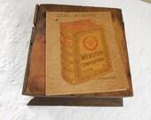 Vintage Webster Tablet/Handwritten Journal 1930s/Collectible Webster Composition/School Ephemera