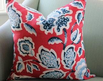 Schumacher Deco Flower Cushion Cover 18 Inch