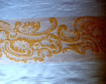 Vintage tablecloth damask cotton with gold tablecloths