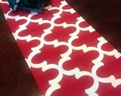 Table Runner - Red and White Moroccan Style Table Runners Christmas Table Runner