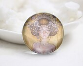 10mm 12mm 14mm 16mm 18mm 20mm 25mm 30mm Handmade Round Photo glass Cabochons Girl Image Glass Cover  (P2637)