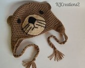 Otter Hat (All sizes available-Made to order)