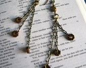 RESERVED LISTING for Courtney Drake Industrial Strength Gear Earrings -- Bronze