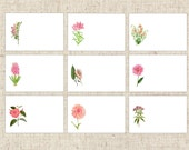 Reserved Listing for Pati,  26 Pink Floral Place Cards