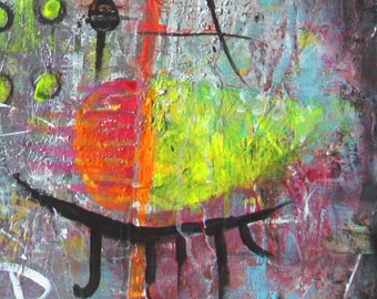 Art Painting Canvas painting ORIGINAL  ABSTRACT  PAINTING on canvas.. Numbers..36''x24'' Acrylic on Canvas