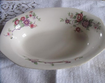 Vintage Homer Laughlin Oval china  bowl floral design