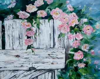 "Original painting ""Grandma's Heirloom Roses"""
