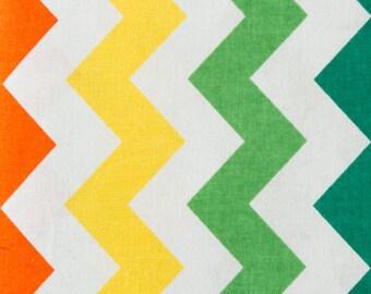 100% Cotton Zigzag Print Fabric Rainbow