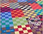Amish Buggy Quilt Pattern, Classic Quilt, Masculine Quilt, X-Long Quilt, Dorm Bed Quilt, Tied Quilt, Easy Quilt Pattern, qtm