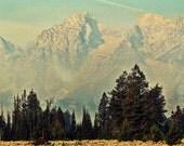 Nature Mountain Landscape Photograph (20x16) Grand Teton National Park