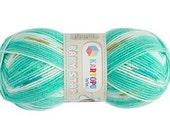 Baby yarn, acrylic yarn, Multicolor, Green, soft, 1 Skeins, Each skein: 100 gr