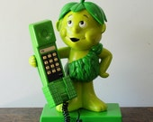 "SALE Vintage Green Giant ""Little Sprout"" Phone Pillsbury Co. 1984"