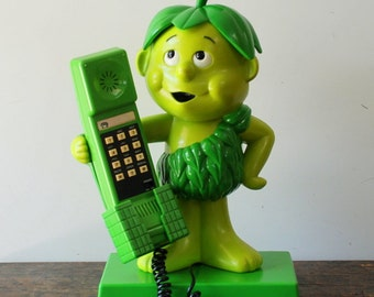 "SALE Vintage Green Giant ""Little Sprout"" Telephone Pillsbury Co. 1984"