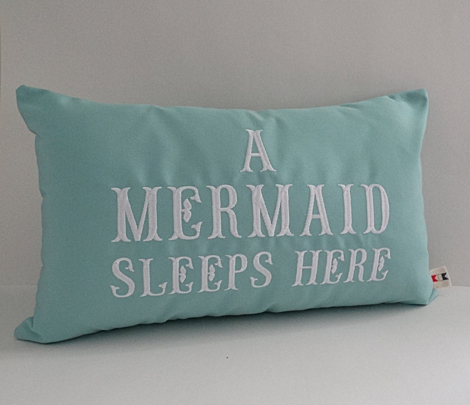 Small Beach Throw Pillows : Mermaid pillow cover A MERMAID SLEEPS HERE 12 x