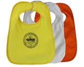 TerryCloth Bib with Cleveland City Seal Design (Yellow, White, or Orange)