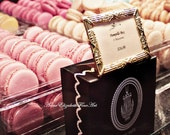 Laduree Photography,Macaron Art, Black,Pink Print,Macaroons,Macarons,French,Pastel,Dreamy, Patissiere,Romantic,Kitchen, Food,Nursery, Preppy