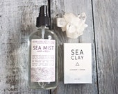 Sea Minerals Gift Set. Sea Mist Beach Wave Hair Spray. Sea Clay Soap. Spa Gift Set. Vegan. 100% Natural. - HerbivoreBotanicals