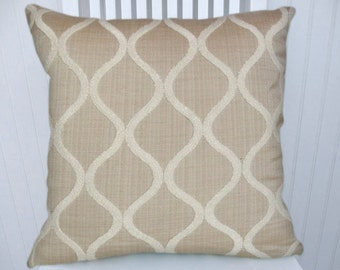 Sand White Chenille Decorative Pillow Cover--Off-White, Sand 18x18 or 20x20 or 22x22 Throw Pillow-- Accent Pillow